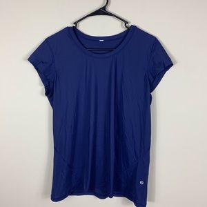 Lululemon navy blue short sleeve shirt